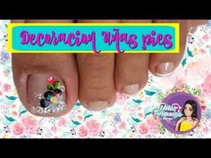 ♥Decoración de Uñas Pies Flor/Nail Decoration Feet Flower - YouTube Toe Nail Designs, Toe Nails, Finger, Youtube, Diana, Finger Nails, Vestidos, Toe Nail Art, Pretty Toe Nails
