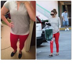 Navy and White Striped Top-Target Red Jeans-Gap Outlet Navy Toms