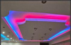 LED false ceiling lights for living room, LED strip lighting ideas in the interior