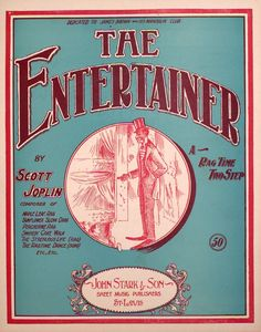 The sheet music for 'The Entertainer'