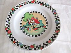 Mary Engelbreit Home Sweet Home Salad Plates (2)