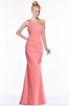 5a9dc86a84d ColsBM Michelle Coral Simple A-line Sleeveless Chiffon Floor Length Bridesmaid  Dresses Coral Bridesmaid Dresses