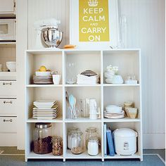 Access what you often need. I need to totally clear my cubby shelves and redo them according to this tip! Like, NOW!