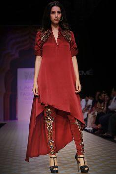 MAROON LAYERED KURTA WITH ACRYLIC JACKET - Tunics - Pret/Resort Wear - Women's Wear - Best Fashion Designer in Mumbai, India