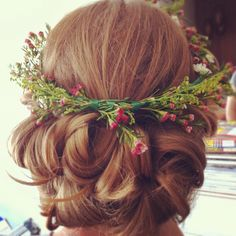 My hair stylist is so talented. :)    Garden Wedding Hair for the Bride By jesskrueger@gmail.com