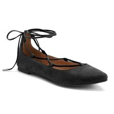 Candie's® Women's Ghillie Lace-Up Flats, Girl's, Size: