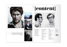 Content Magazine by Emma Burke, via Behance