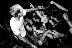 Jacob Bannon the lead singer of Converge, a real passionate, he believes in his music
