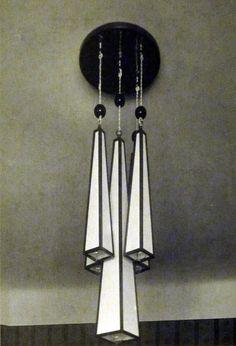 Ceiling light, designed by architect Josef Gocar, the most prolific figure in Czech Cubism.