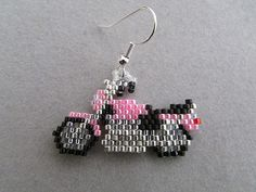 These unique earrings are just the right thing for anyone who loves Motorcycles, loves to ride, or owns one. They measure approximately
