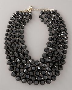 Black Bib Necklace by Kate Spade