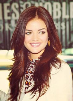 Beautiful Lucy Hale demonstrates how to wear long ...