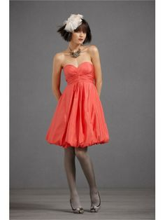 Cotton Sweetheart Knee-Length Special Occasions Dress