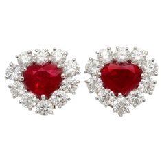 GRAFF Burma Ruby Diamond Clip-on Earrings. http://www.1stdibs.com/jewelry/section/antique-fine-jewelry/clip-on-earrings/graff-burma-ruby-diamond-earclips/id-j_81940/