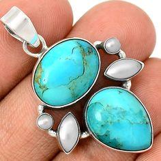Sleeping Beauty Turquoise 925 Sterling Silver Pendant Jewelry SP199646 | eBay