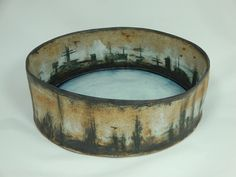 Stoneware Bowl for Aaron 1 Forest, City, Lake