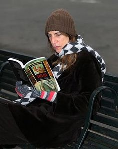 Patti Smith reading The Collected Poems of Wallace Stevens.
