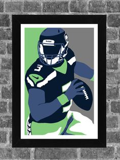 Seattle Seahawks Russell Wilson Portrait Sports Print Art 11x17  • • • • • • • • • • • • • • • • • • • • • • • • • • • • • • • •  Please note the border. Poster is ready for framing and printed on high-quality photo paper. We use only archival quality paper and inks.  • • • • • • • • • • • • • • • • • • • • • • • • • • • • • • • •  All prints are carefully packed for shipping with soft tissue wrapping and durable tubing.