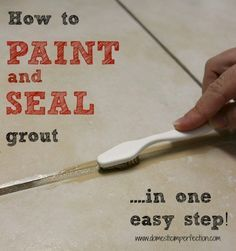 How to make dirty grout look new again