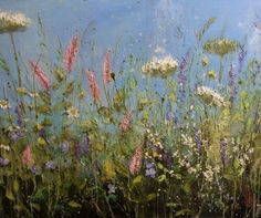 'A day for singing' by Marie Mills, 100cm x 80cm,Oil on linen, £1295   www.lyndhurstgallery.co.uk