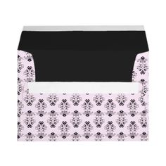 Pink & Black Damask Envelopes