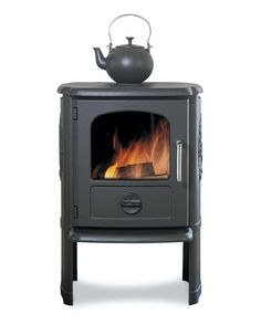 My office has no heat or air currently (I bring heaters up in the winter, and it faces in a direction that -thus far- keeps it pretty comfy in the spring. Not sure about summer yet..) But I am in love with this Morso wood burning stove. UK product. Didn't see a US product I wanted... <3 Double bonus? I can heat my water for tea...
