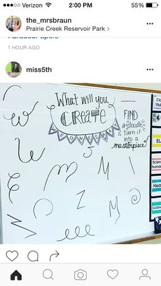 Wednesday whiteboard prompt: what will you create
