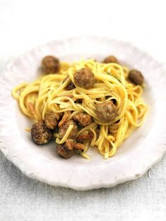 Sausage Carbonara | Pasta Recipes | Jamie Oliver Recipes