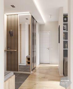 коридор corridor #shcher_apartment Home Entrance Decor, Entrance Design, House Entrance, Entryway Decor, Hall Interior, Apartment Interior Design, Modern Interior Design, Room Partition Designs, Hallway Designs