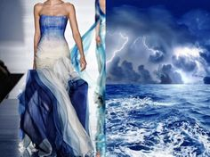 Rami Al Ali Couture S/S 2011 & Storm On The Sea. Collage by Liliya Hudyakova.