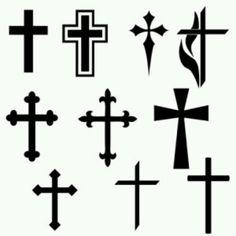 Black Cross Tattoos Design Stencil