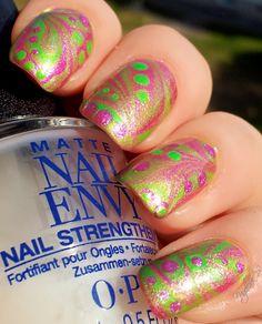 [NOTD] Shimmering Watermarbelling :D | Nagellack 2.0