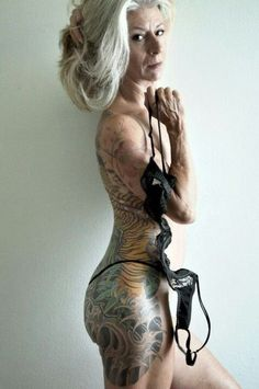 """For all those people who say,""""your tattoos are gonna be wrinkly and ugly when you get old"""". Pfffffft!"""