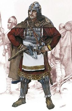 warrior from Samon's state Medieval World, Medieval Armor, Vikings, European History, Ancient History, Military Art, Military History, Rome Antique, Empire Romain