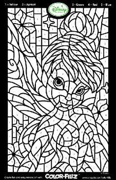 Disney Fairies Tinkerbell Mosaic coloring page. I colored this myself, lol, and it was fun!