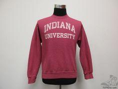 Jerzees Indiana Hoosiers Crewneck Sweatshirt sz S Small University IU Red  #Jerzees #IndianaHoosiers