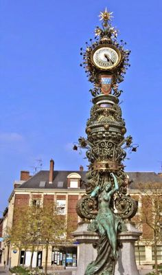 Art Nouveau Clock in Amiens, France