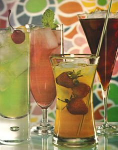 Cocktails. Vintage Cocktails, Craft Cocktails, Retro Crafts, Tropical, Still Life Photography, Hurricane Glass, Pint Glass, Psychedelic, 1970s