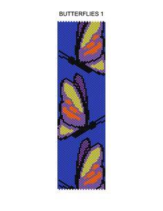 Butterflies 1 Peyote Pattern