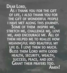 Gift of Wonderful People Prayer