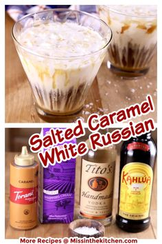 Salted Caramel White Russian cocktails are the most delicious spin on the classic cocktail that is perfect for any occasion. Easy to mix up for entertaining guests or to enjoy by a cozy fire during the holidays. Cocktail Desserts, Easy Cocktails, Classic Cocktails, Holiday Cocktails, Cocktail Recipes, Yummy Drinks, Delicious Desserts, Fun Drinks, Alcoholic Drinks
