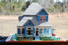 Blue Country Home: A LEGO® creation by Rita Stallings : MOCpages.com