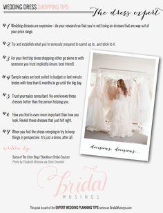 Wedding Dress Shopping Tips | Bridal Musings Wedding Blog