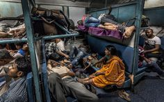 """Winners of the 2015 Urban Photography Competition Shine a Light on Diverse Urban Life Around the World - Winner: """"General Compartment"""" by Sujan Sarkar – India Photography Competitions, Photography Awards, Urban Photography, Fashion Photography, Bbc News, Amazing India, Night Train, Photo Competition, Urban Life"""