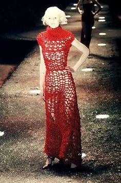 Alexander McQueen F/W 1998  McQueen and Knitting = Bliss