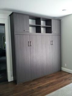 Side Tilt Murphy Bed in Textured Toscana Finish