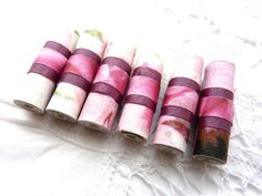 Paper art beads unique hand rolled tube beads by shelikesthis