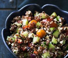 This Quinoa Greek Salad From Simply Recipes Is the Smartest Idea for Summer Tomatoes  by Kalyn Denny