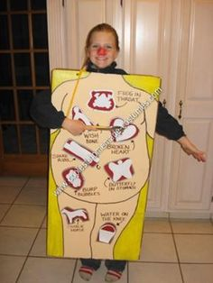 Homemade Operation Board Game for Halloween Costume.