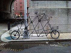 tall bicycle - family size - I don't think it is ridable but a cool piece of work